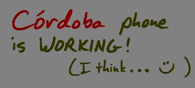 Córdoba phone number working (I think…)