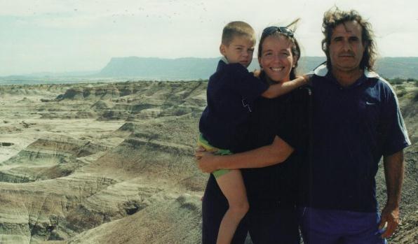 Natalia con Gero y Beto en Valle de la Luna
