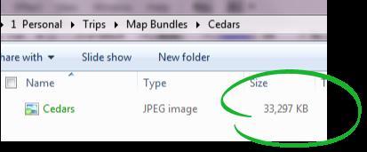 Jpeg in a folder