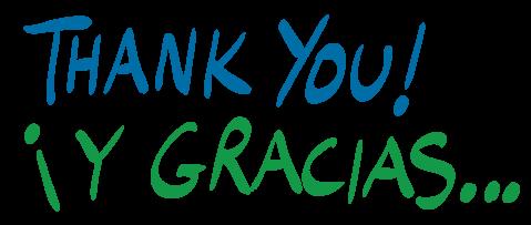 Thank you! Y Gracias...