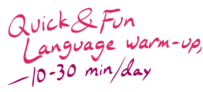 Quick & fun language warm-up
