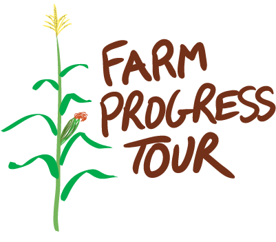 Farm Progress tour; Drawing of a corn stalk