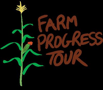Farm Progress tour; Drawing of a corn stalk