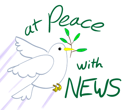 At peace with the news – dove and olive branch