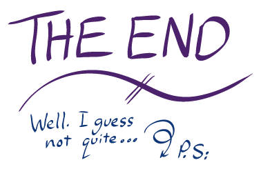 The end – flourish … Well I guess not quite…